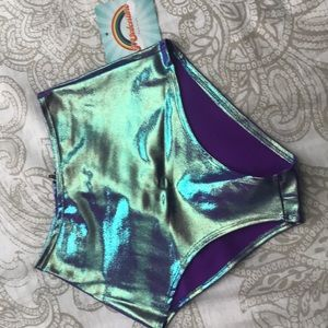 Purple high waisted rave bottoms